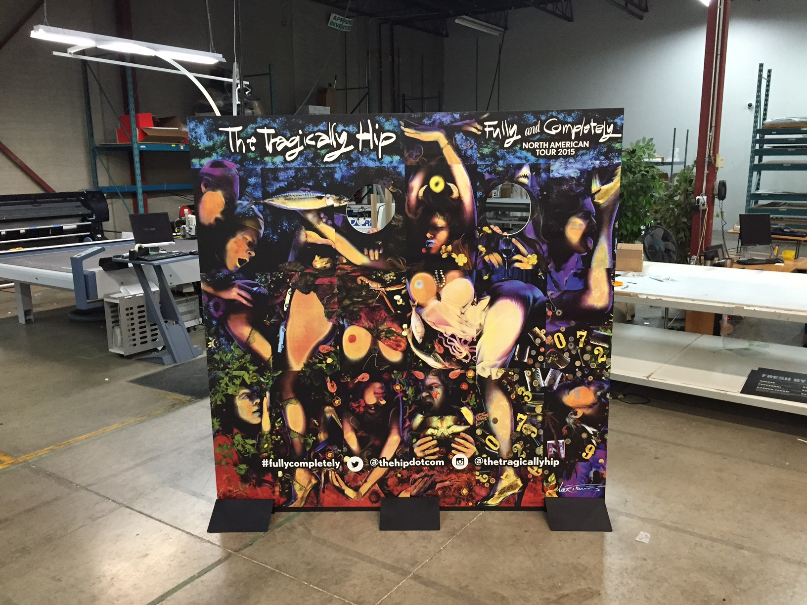Tragically Hip 2015 Canadian Tour Standee