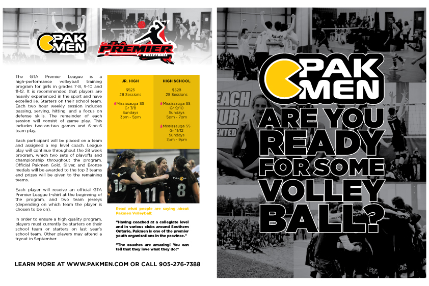 Pakmen Volleyball 2015 Program Brochures